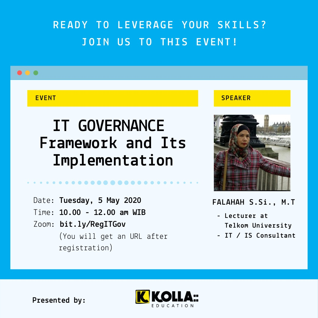 Eflyer Kolla Webinar IT Governance: Framework and Its Implementation