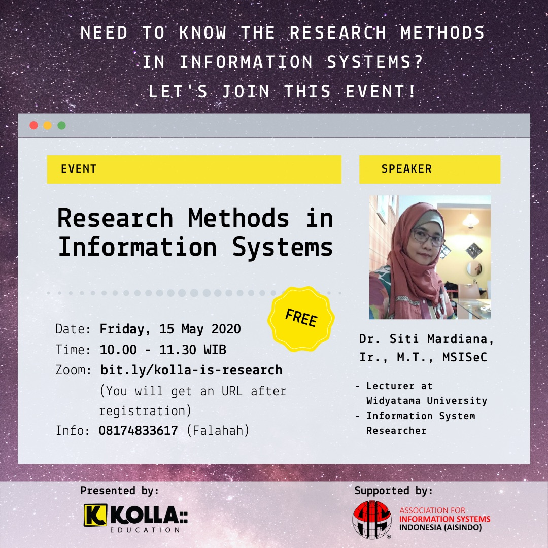 Eflyer Webinar Kolla Research Methods in Information Systems