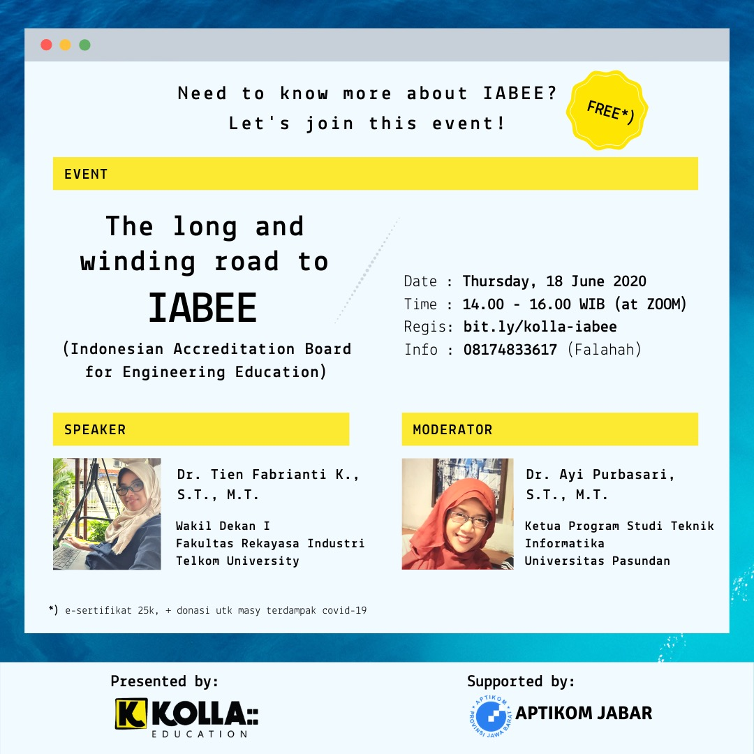 Eflyer Webinar Kolla The long and winding road to IABEE